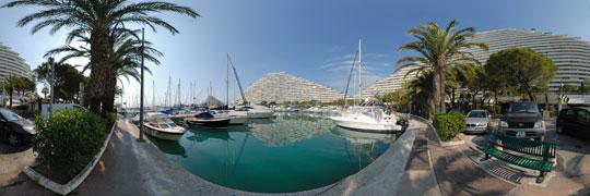 Villeneuve loubet visite virtuelle de marina baie des anges for Piscine marina baie des anges